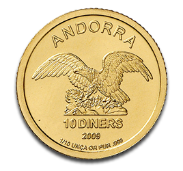 1/10 oz Andorra Diners | Gold | 2009