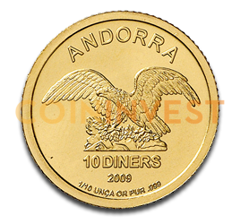 1/10 oz Andorra Diners | Or | 2009