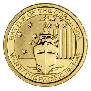 1 10 Oz Battle Of The Coral Sea Gold Coin 2015 Coininvest