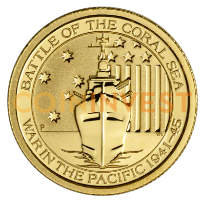 1/10 oz Battle of the Coral Sea Gold Coin (2015)