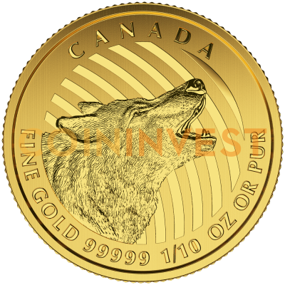 1/10 oz Howling Wolf 999.99 | Gold | 2015