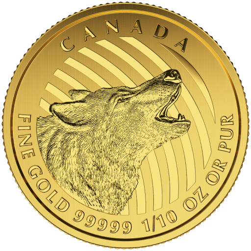 1/10 oz Howling Wolf 999.99 | Or | 2015