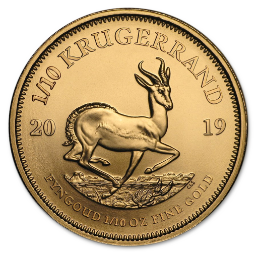 1/10 oz Krugerrand Gold Coin (2019)