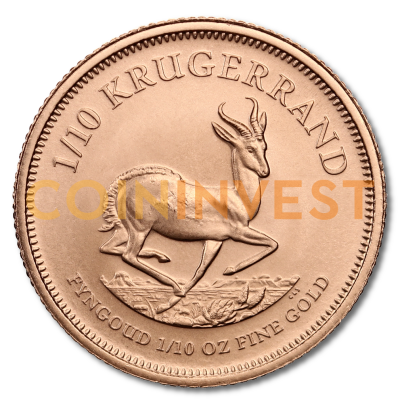 1/10 oz Krugerrand Gold Coin (mixed years)