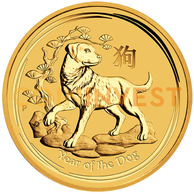 1/10 oz Lunar II Chien | Or | 2018