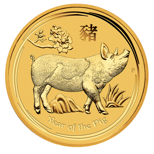 1/10 oz Lunar II Pig Gold Coin (2019)