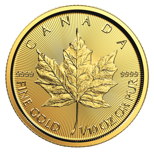 1/10 oz Maple Leaf | Or | 2018
