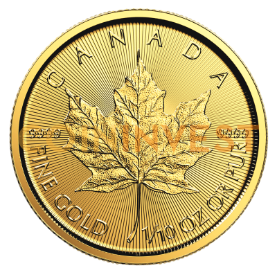 1/10 oz Maple Leaf Gold Coin (2018)