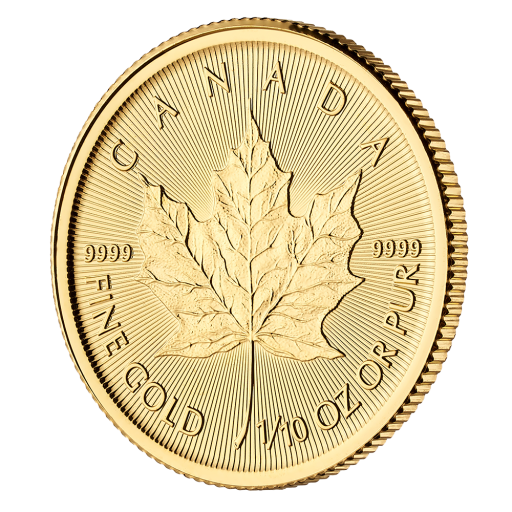 1/10 oz Maple Leaf Gold Coin (2019)