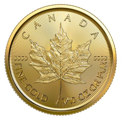 1/10 oz Maple Leaf Gold Coin (2020)