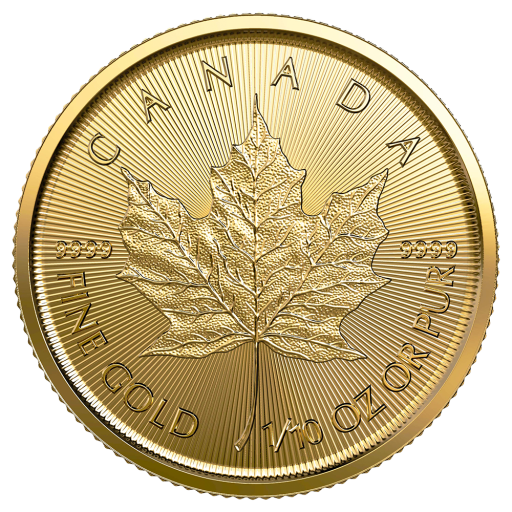 1/10 oz Maple Leaf Gold Coin (2021)