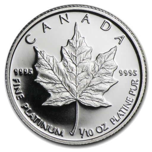 1/10 oz Maple Leaf | Platino| anni diversi