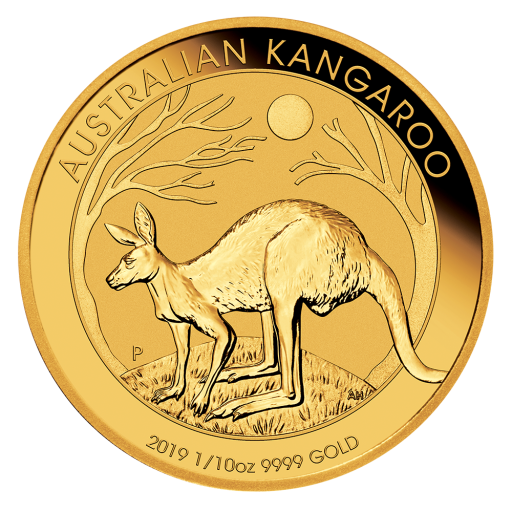 1/10 oz Nugget Känguru Goldmünze (2019)