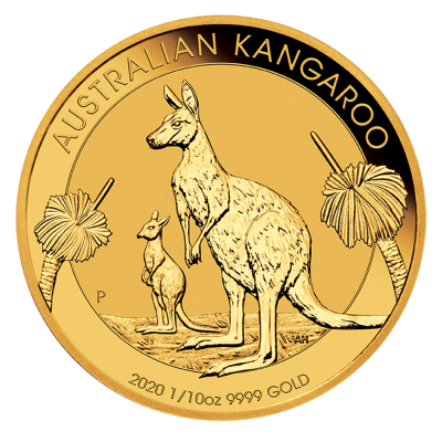 1/10 oz Känguru Goldmünze (2020)