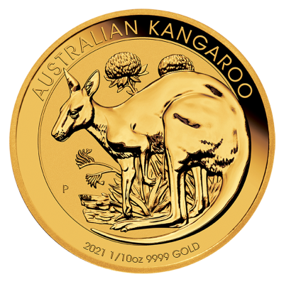 1/10 oz Kangaroo Gold Coin (2021)