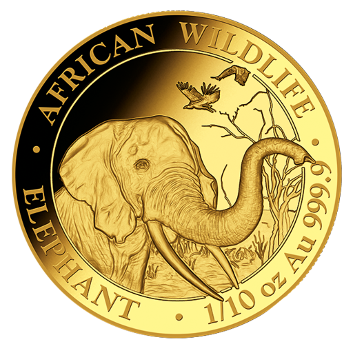 1/10 oz Somalia Elephant | Gold | 2018