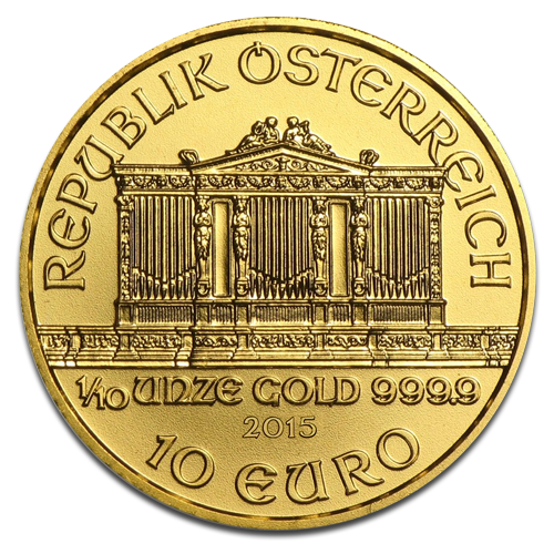 1/10 oz Vienna Philharmonic | Gold | 2015