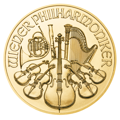 1/10 oz Vienna Philharmonic Gold Coin (2021)