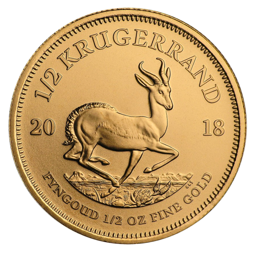 1/2 oz Krugerrand Gold Coin (2018)