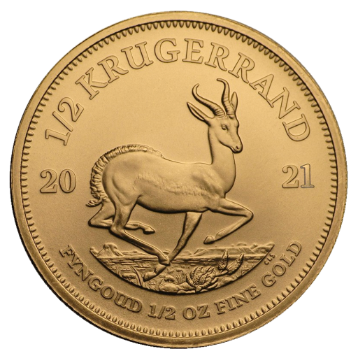1/2 oz Krugerrand Gold Coin (2021)