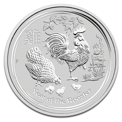 1/2 oz Lunar II Rooster | Silver | 2017