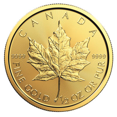1/2 oz Maple Leaf Gold Coin (2018)
