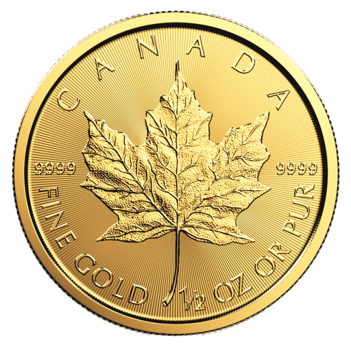 1/2 oz moneta d'oro Maple Leaf (2018)
