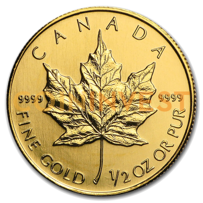 1/2 oz Maple Leaf | Oro | años diversos