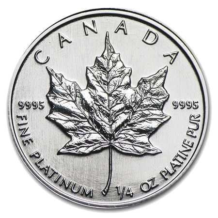 1/2 oz Maple Leaf | Platina | años diversos