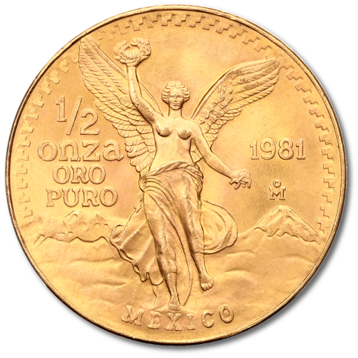 1/2 oz Mexican Libertad | Gold | mixed years