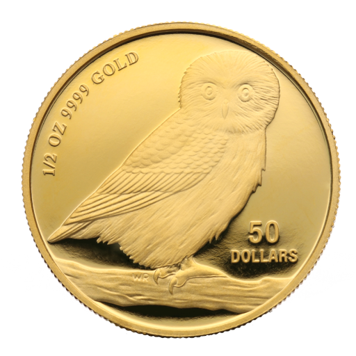 1/2 oz Tuvalu Owl | Gold | mixed years
