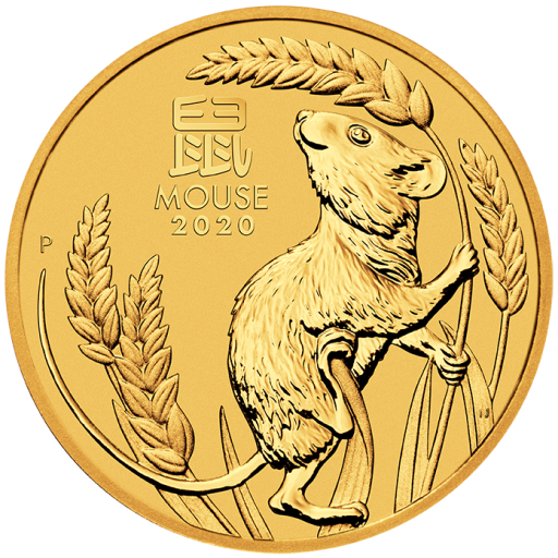 1/20 oz Lunar III Mouse Gold Coin (2020)