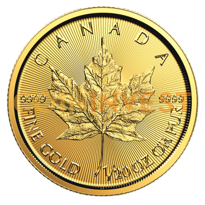 1/20 oz moneta d'oro Maple Leaf (2018)