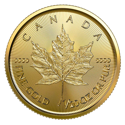 1/20 oz moneta d'oro Maple Leaf (2020)