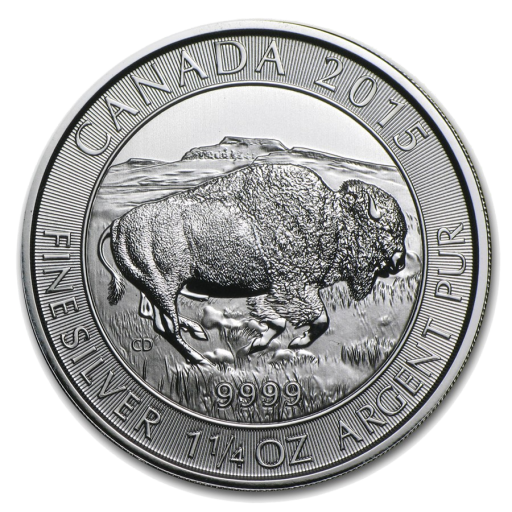1.25 oz Canadian Bison Silver Coin (2015)