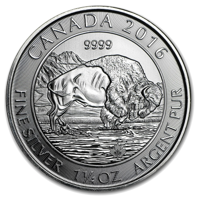 1.25 oz Canadian Bison Silver Coin (2016)