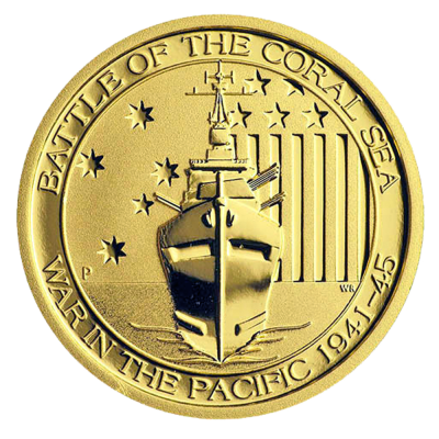 1/4 oz Battle of the Coral Sea Gold Coin (2015)