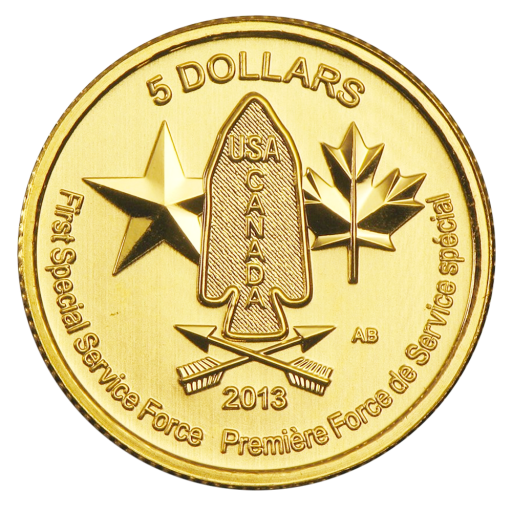 1/4 oz First Special Force Gold Coin (2013)