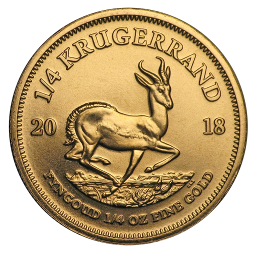 1/4 oz Krugerrand Gold Coin (2018)
