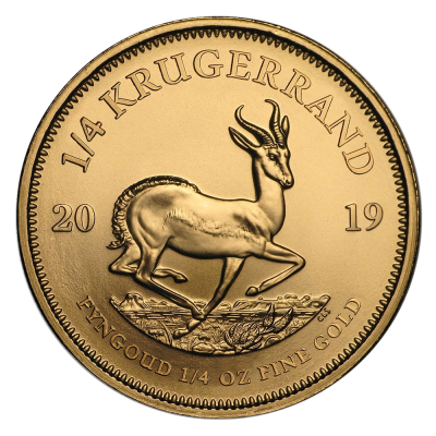 1/4 oz Krugerrand Gold Coin (2019)