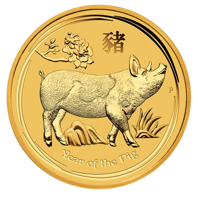 1/4 oz Lunar II Pig Gold Coin (2019)