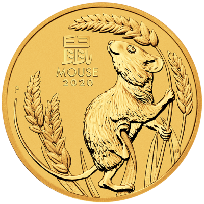 1/4 oz Lunar III Mouse Gold Coin (2020)