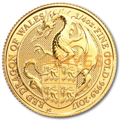 1/4 oz Queen's Beasts Drago d'oro (2017)