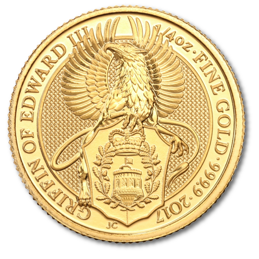 1/4 oz Queen's Beasts Grifone d'oro (2017)