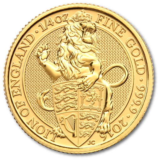 1/4 oz Queen's Beasts Lion Gold Coin (2016)