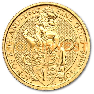 1/4 oz Queen's Beasts Löwe | Gold | 2016