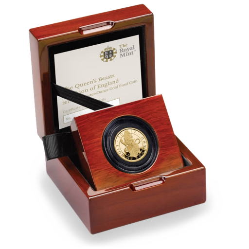 1/4 oz Queen's Beasts Lion Proof | Or | 2017