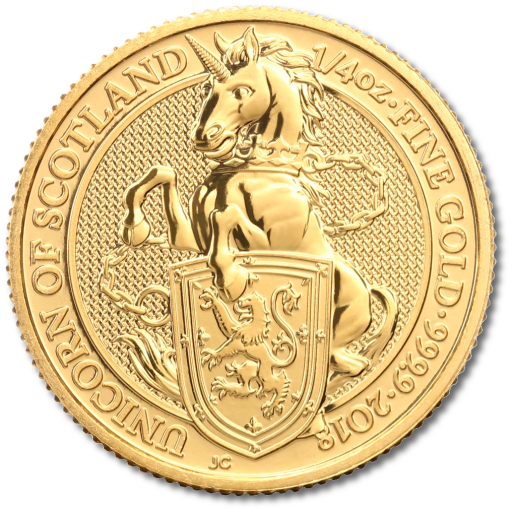1/4 oz Queen's Beasts Unicorn Gold Coin (2018)