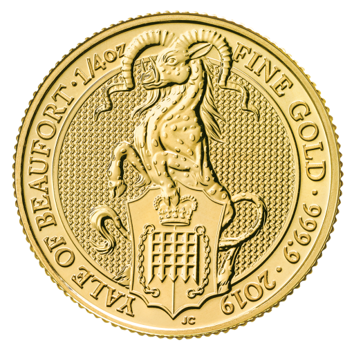 1/4 oz Queen's Beasts Yale of Beaufort Gold Coin (2019)