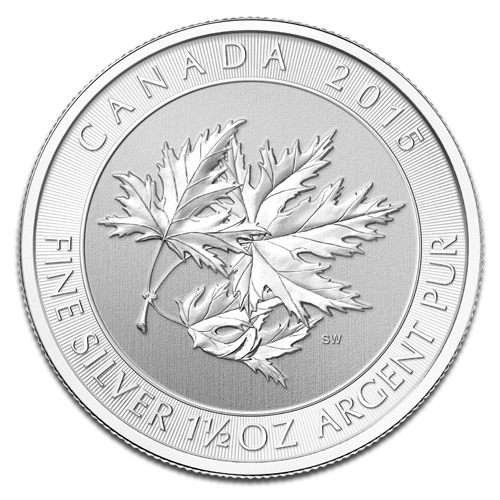 1.5 oz Multi Maple Leaf | Argent | 2015